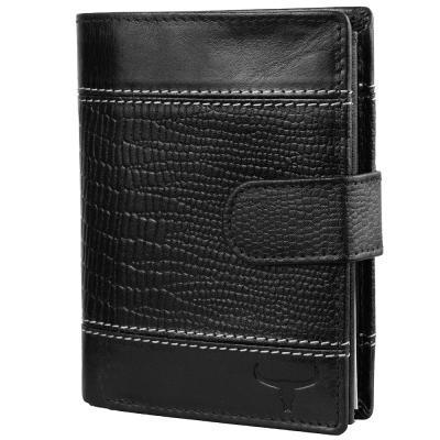 Кошелек или Портмоне Buffalo Wild Кошелек мужской кожаный BUFFALO WILD (БУФФАЛО ВАЙЛД) DNKN890L-VTC-black