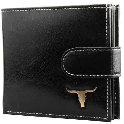 Кошелек или Портмоне Buffalo Wild Кошелек мужской кожаный BUFFALO WILD (БУФФАЛО ВАЙЛД) DNKRM-01L-BAW2-black