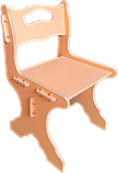 """Детский стульчик из дерева """"24см"""" (2-4 года) Персиковый, фото 2"""