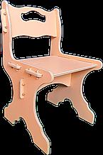 """Дитячий стільчик з дерева """"24см"""" (2-4 роки) Персиковий"""