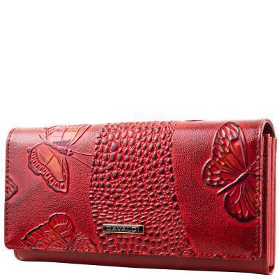 Кошелек или Портмоне 4U Cavaldi Кошелек женский кожаный 4U CAVALDI (ФО Ю КАВАЛЬДИ) DNKPN24-BFC-red