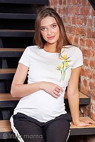 Белая футболка для кормящих и беременных мам S M L XL