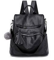 Женский рюкзак сумка Кентая с помпоном