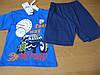 Детский летний костюм  футболка и шорты для мальчика Тачки 74- 80  cm,  Турция хлопок