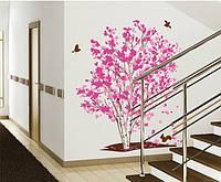 Наклейка виниловая Цветущее дерево