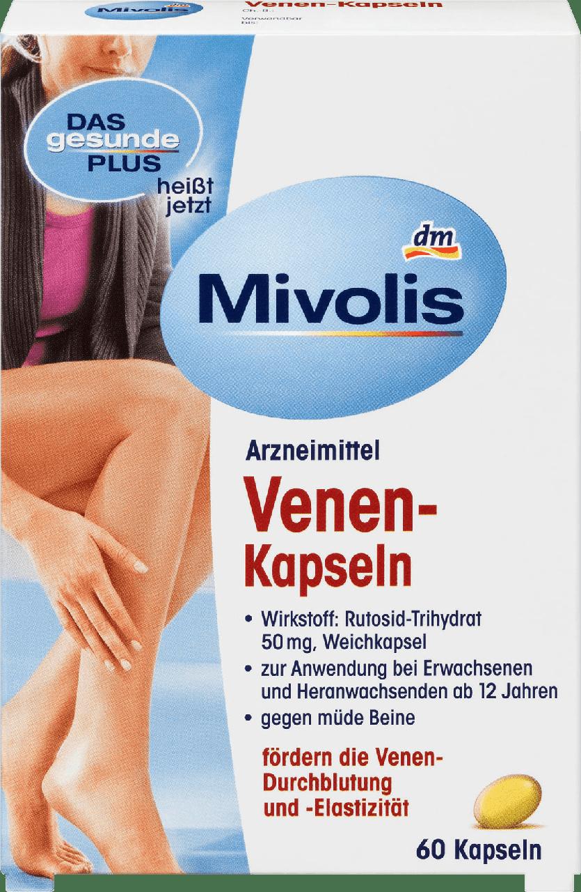 Противоварикозные капсулы Mivolis Venen-Kapseln, 60 шт.