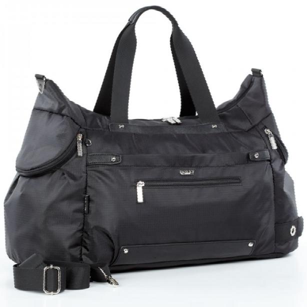Спортивная сумка Долли болоньевая чёрная