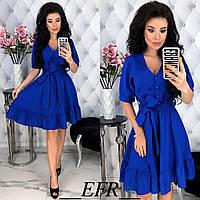 Льняное платье женское (5 цветов) - Электрик ЕФ/-397, фото 1