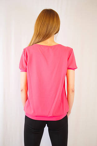 Модная яркая кораловая красивая летняя шифоновая блуза, фото 2