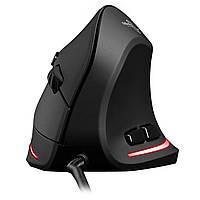 Мышь Zelotes Т-20 вертикальная проводная 3200 dpi 6 кнопок USB для Пк и ноутбука