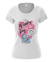 "Футболка женская ""Winner of the day"" XL"