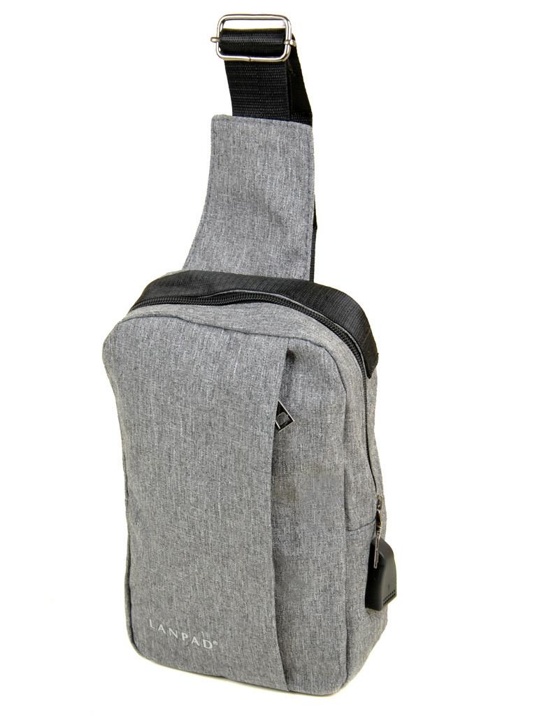 Мужская сумка на плечо Lanpad 815-1 grey