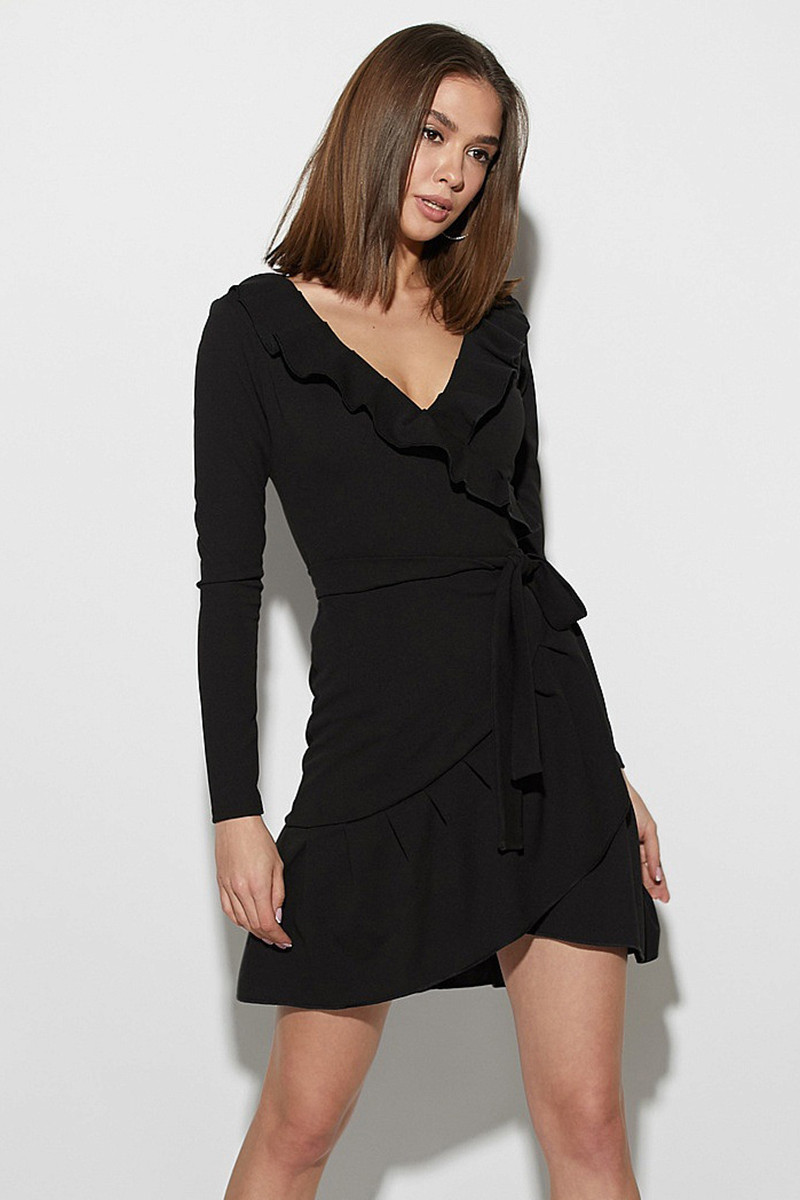 S | Вишукане чорне коктейльне плаття Akura