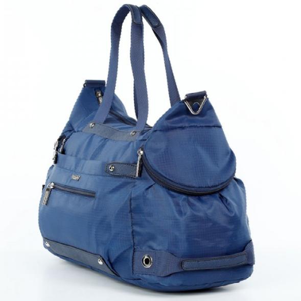 Спортивная сумка Долли болоньевая синяя для спортзала