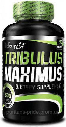 Бустер тестостерона, Трибулус,  Tribulus Maximus BioTech 90 tabs (1500 mg), фото 2