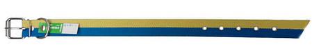 """Ошейник двойной 30 мм х 600 мм """"Патриот"""" ТМ Canicula / жёлто-голубой /двухцветный / ошийник для собак, фото 2"""