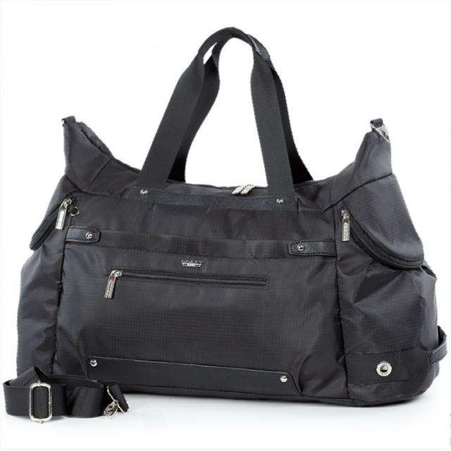 Спортивная сумка Долли болоньевая чёрная для спортзала