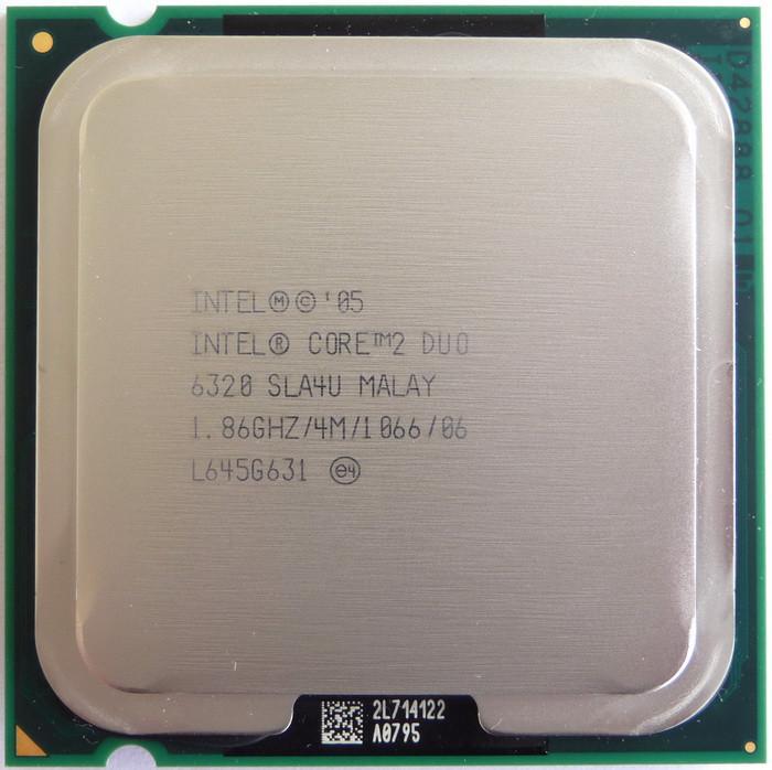 Процессор Intel® Core™2 Duo E6320 4 МБ кэш-памяти, 1.86 ГГц, частота системной шины 1066 МГц