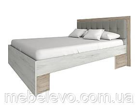 Кровать Милана 160 1030х1822х2044мм дуб крафт белый + серый Сокме