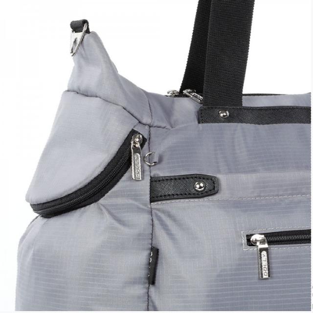 Спортивная сумка Долли болоньевая серая женская
