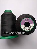 Нитки Coats gral 180 / 09700/5000м  колір чорний
