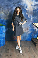 Джинсовое платье-рубашка для беременных 4152358, фото 1