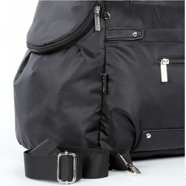 Спортивная сумка Долли болоньевая чёрная надёжная