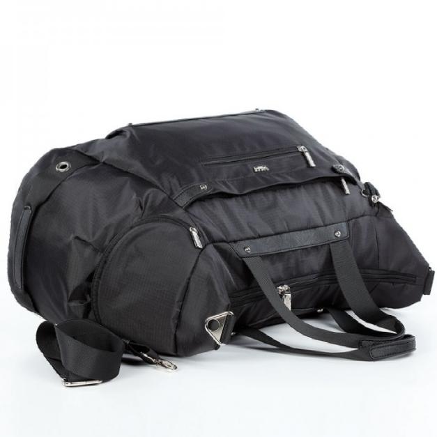 Спортивная сумка Долли болоньевая чёрная мужская