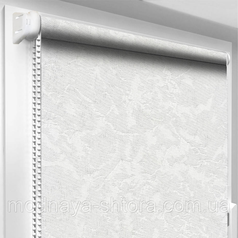 """Тканевые рулонные шторы """"Oasis"""" венеция (белый), РАЗМЕР 47,5х170 см"""