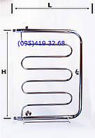 """Полотенцесушитель""""ПМ"""" (пешка с эмкой) широкая  нержавеющая сталь 12Х18Н10Т"""