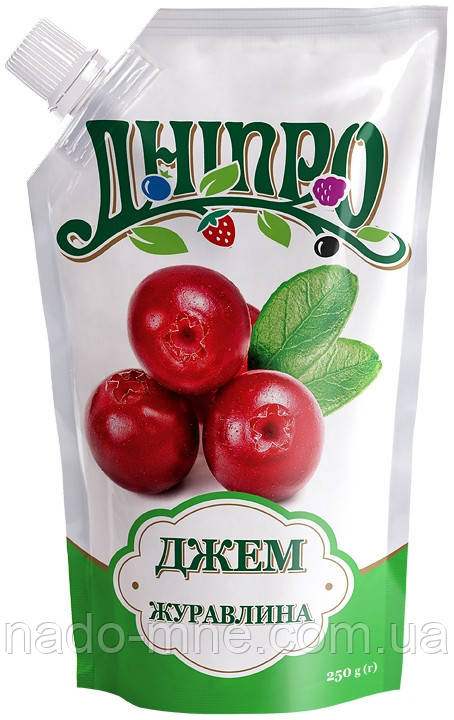 Джем Клюква ТМ Дніпро, дой-пак 250 г