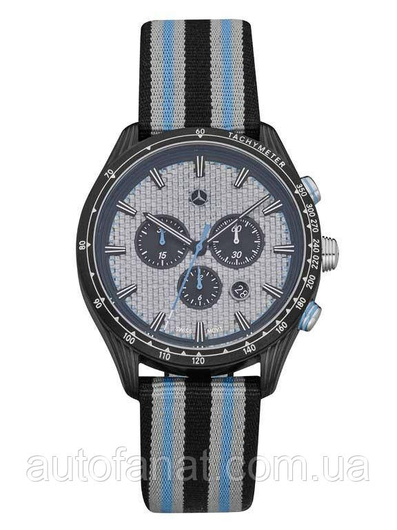 Мужские наручные часы Mercedes-Benz Men's Chronograph Watch, Motorsport, Silver/Blue/Black (B67995428)