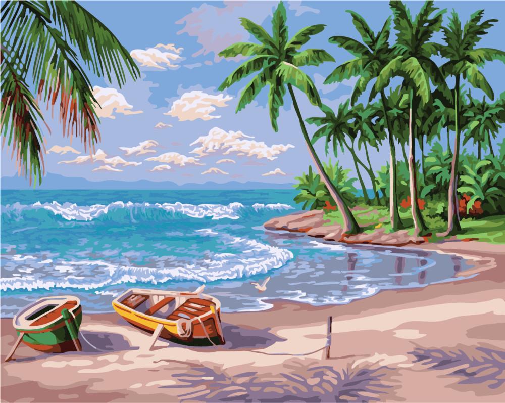 Картина по номерам Побережье океана