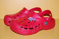 Детские кроксы красные размеры 20-35 20\21