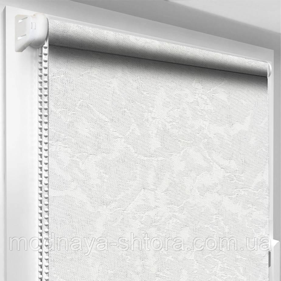 """Тканевые рулонные шторы """"Oasis"""" венеция (белый), РАЗМЕР 55х170 см"""