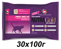 Корм для кошек Nutra Gold Finicky 30x100г