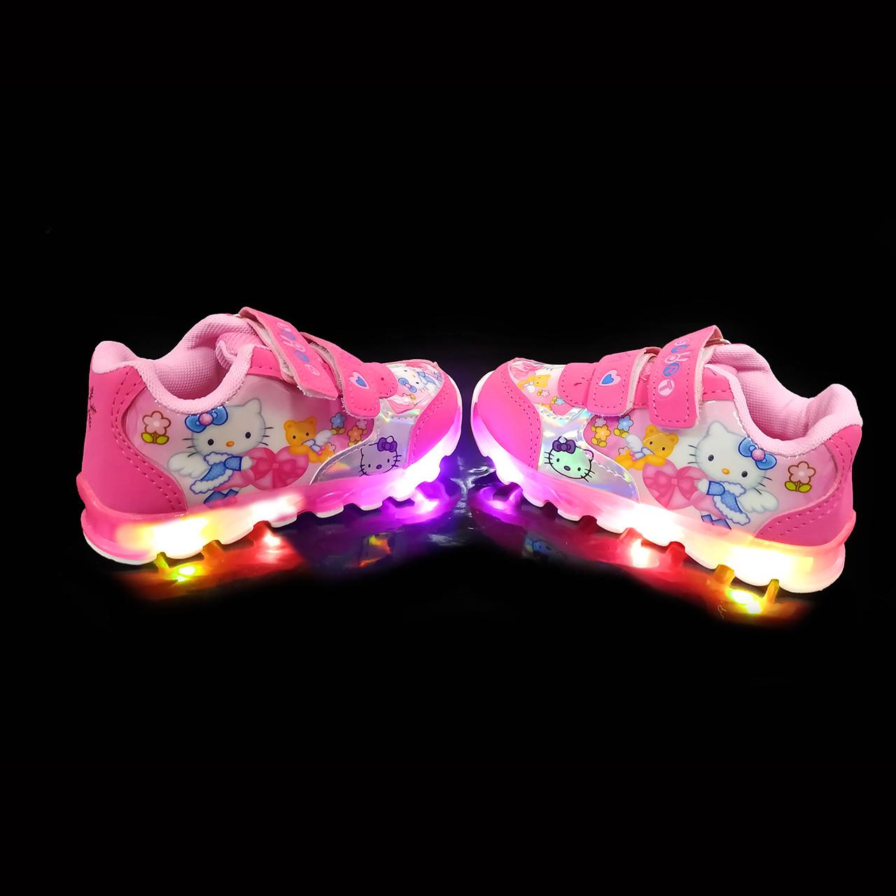 Кроссовки с подсветкой детские Girl Kitty