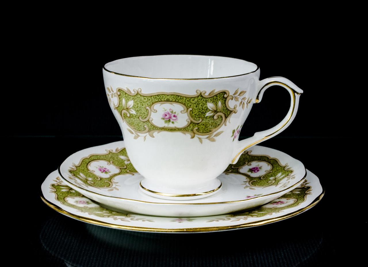 Чашка блюдце тарелка, фарфор Англия Duches BONE CHINA
