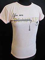 Однотонные футболки с надписью для девушек., фото 1