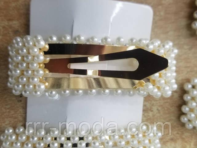 брендовые модные заколки с жемчугом оптом по 17 грн, фото