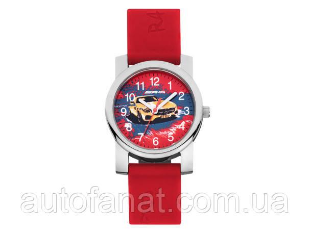 Дитячі наручні годинники Mercedes-Benz children's Watch, Mercedes-AMG GT, red / solarbeam / silver-coloured