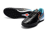 Футбольные сороконожки Nike TiempoX Finale TF Black/Armory Navy/Light Armory Blue, фото 1
