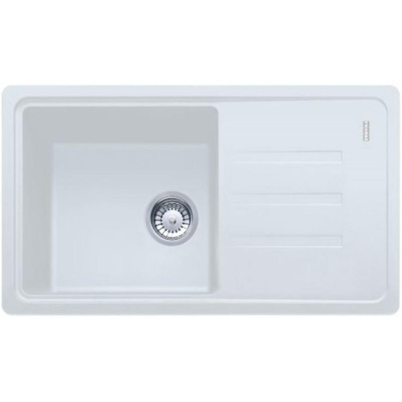 Кухонная мойка гранитная белая 78*43,5*20 см ADAMANT SLIM LONG белый