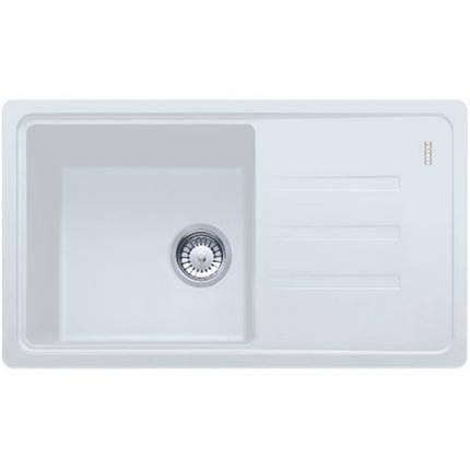 Кухонная мойка гранитная белая 78*43,5*20 см ADAMANT SLIM LONG белый, фото 2
