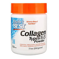 Doctor's s Best Best Collagen Types 1 and 3 Powder Unflavored, 200 грам