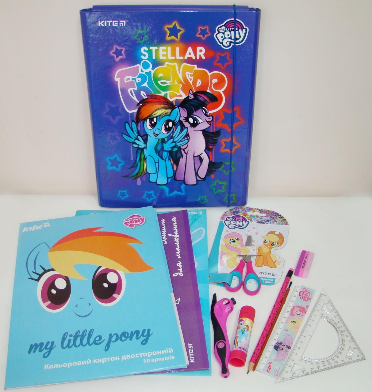 Набор первоклассника для девочки Little Pony в папке