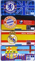 Пенал школьный «Футбольные клубы», 2 отделения, пластиковый, с точилкой 9226-1302