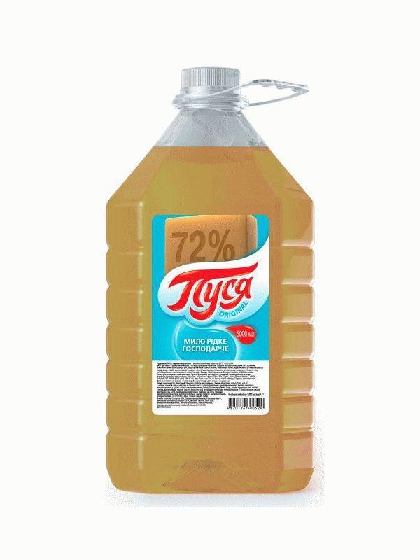 Жидкое хозяйственное мыло, 5 л, Пуся