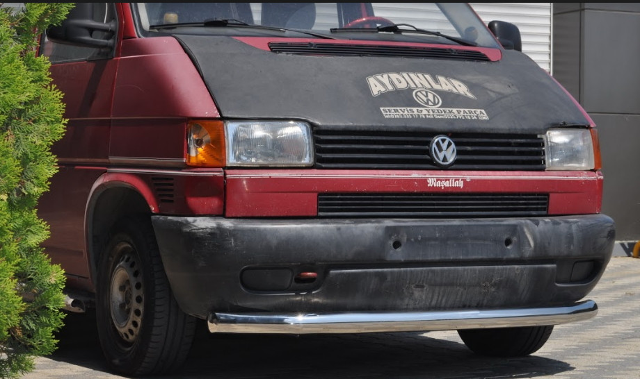 Передня захист на бампер вус для Fiat Fiorino (08+)