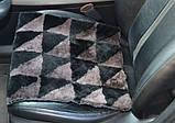 Накидка на стулья из кусочков натуральной цигейки  квадратная, фото 8